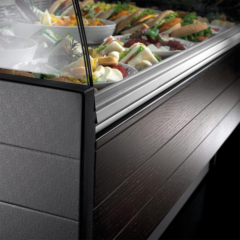 Espositore refrigerato vetri curvi