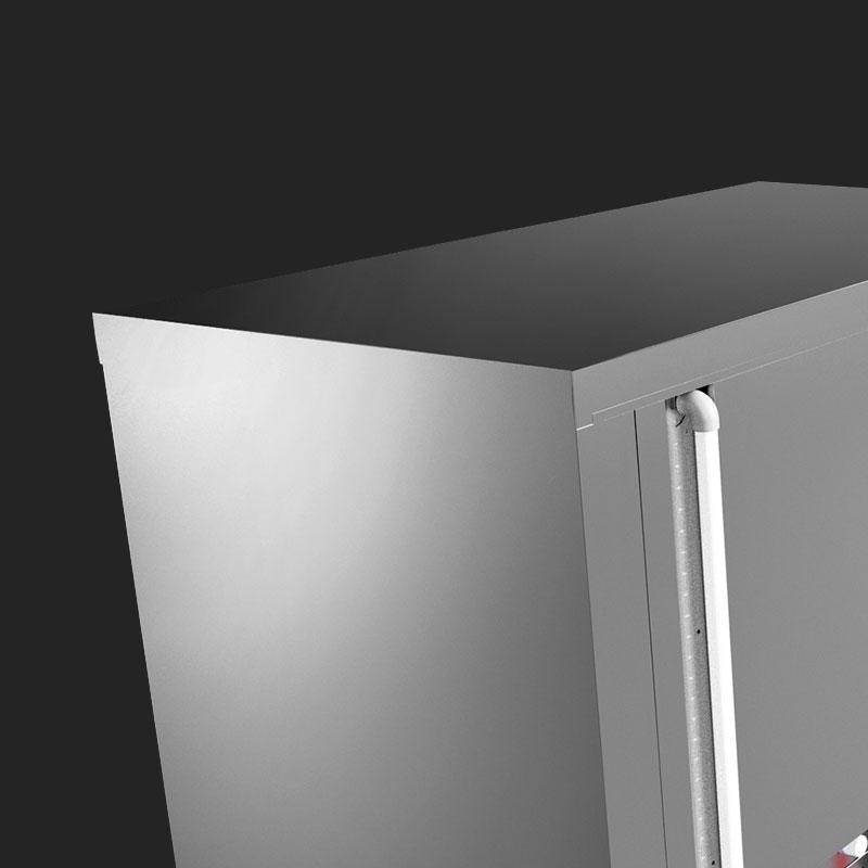esterno in acciaio raffreddatore