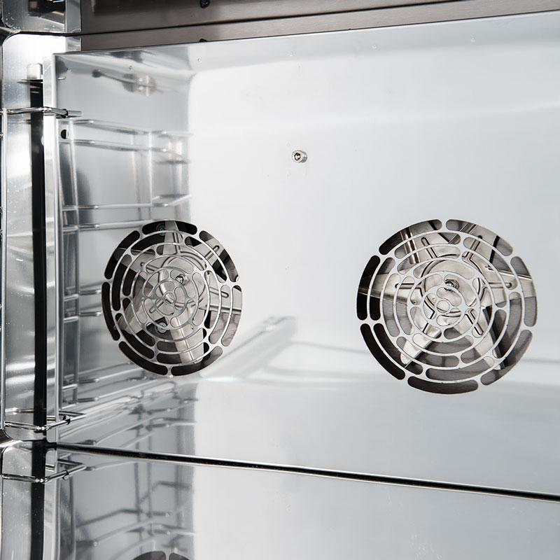 ventole in acciaio inox forni nerone